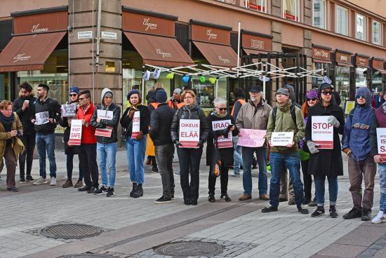 Turku - mielenosoitus 1